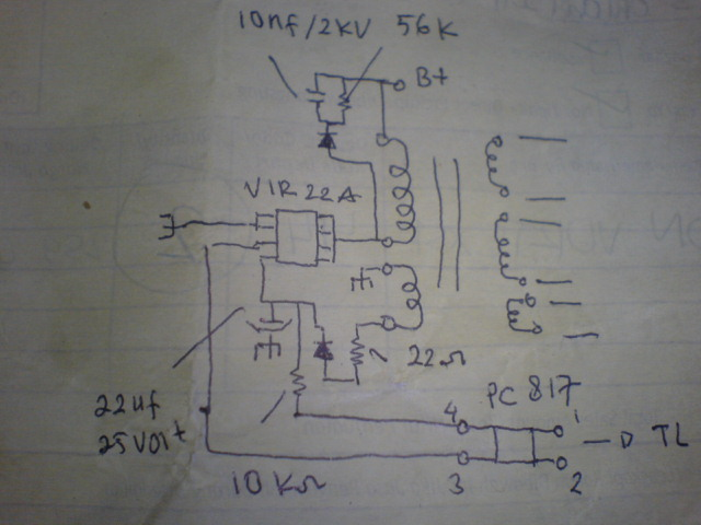 Diagram power supply VIR22A
