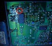 Modul IF televisi Toshiba bomba/ letak masalah dengan lingkaran merah