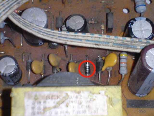 posisi dioda pada mainboard televisi