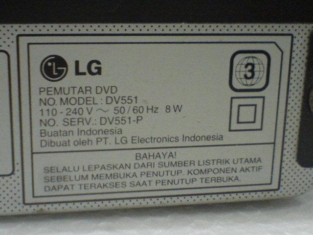DVD Player LG DV551