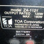 Amplifier-Toa-ZA1121