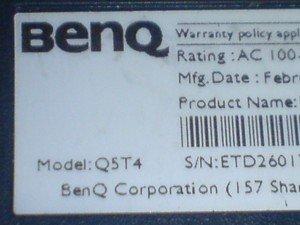 model monitor BENQ