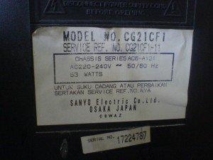 Model televisi Sanyo