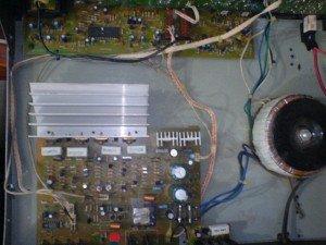 Tampak atas amplifier