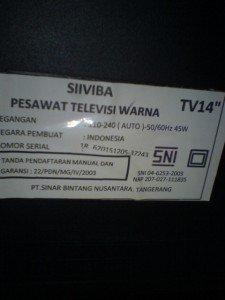 Model televisi Siiviba