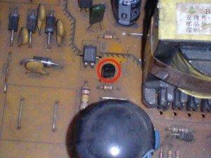 posisi transistor pada mainboard televisi