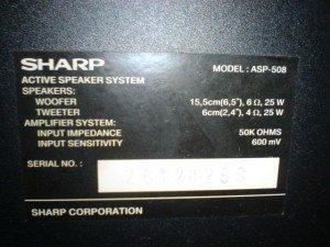 Speaker Aktif Sharp