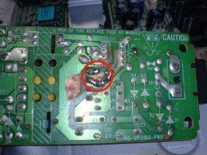 Tampak bawah power supply DVD Player Philips
