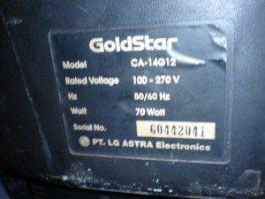 model televisi Goldstar