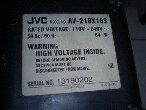 Televisi JVC  AV21BX16S