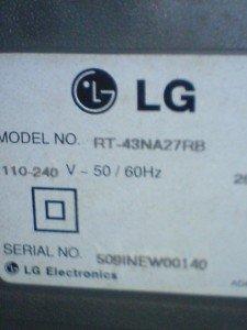 Televisi LG RT43NA27RB