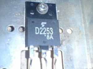 Transistor horizontal pengganti televisi Sanyo