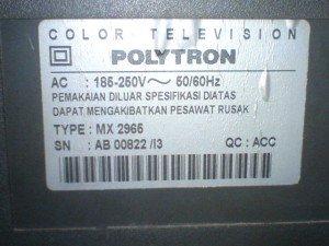 Televisi Polytron MX2966