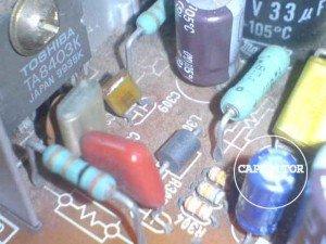 capasitor feedback vertikal mainboard televisi toshiba