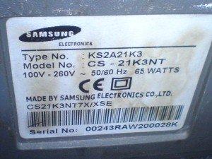 model televisi Samsung CS21K3NT