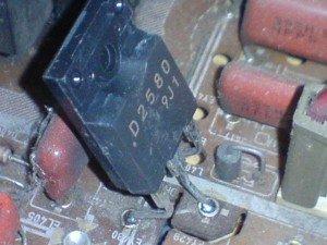 transistor 2SD2580 , mainboard televisi Samsung