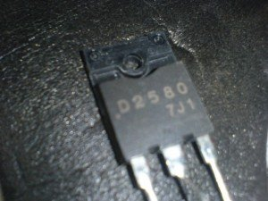 Transistor horizontal type 2SD2580