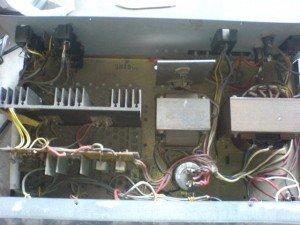 tampak atas amplifier toa