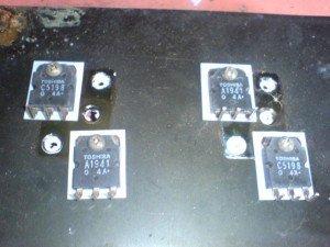 Pemasangan Transistor di alumunium