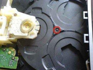 Mekanik CD bagian atas
