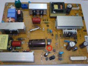 Power Supply LCD TV LG / lingkaran merah posisi dioda yang di maksud