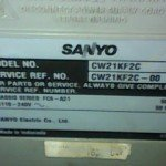 Model tv sanyo CW21KF2C