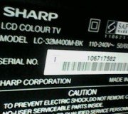 model lcd tv sharp aquos lc32m400m-bk