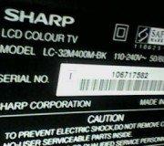 model lcd tv sharp aquos lc32m400m-bk