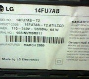 model tv lg 14fu7ab