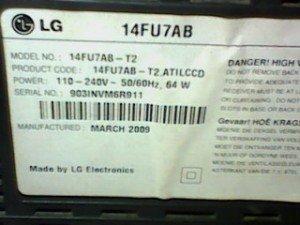 model tv lg 14fu7ab