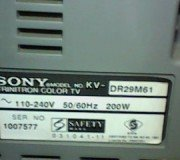 model tv sony kv-dr29m61