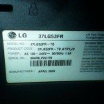 model lcd tv LG 37LG53FR