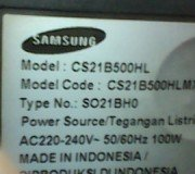 model tv samsung cs21b500hl