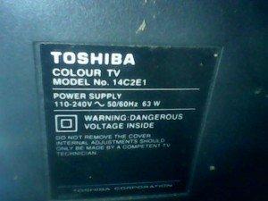 model tv toshiba 14c2e1