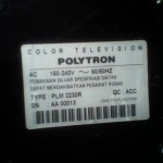 model lcd tv polytron plm2230r