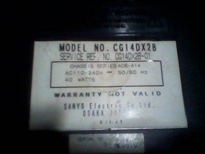 model tv sanyo cg14dx28
