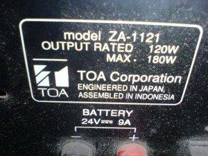 Amplifier-Toa-ZA1121